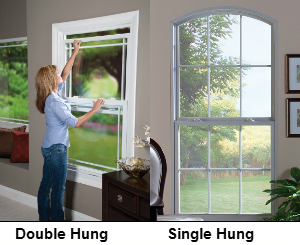single hung window vs double hung window