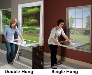 single window vs double hung window